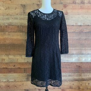 Laundry by Shelli Segal Black Lace Dress with Slip